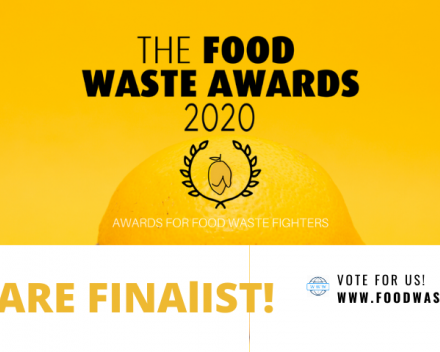WE ARE FINALISTS! Vote for us for the Food Waste Awards 2020